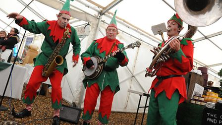 The Elves make themselves at home during Elveden performance