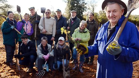 105 trees have been planted on Beetley Common at the Country Wildlife site. Picture; Matthew Usher.