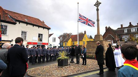 This year's Remembrance Day service at Holt war memorial. PHOTO: ANTONY KELLY