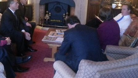 Suffolk MPs meet with PM David Cameron to discuss the impact of tolling the A14 on the business comm