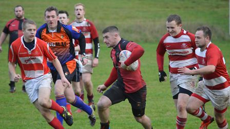 Action from Watton RFC's 66-15 friendly victory against Thetford 2nds.
