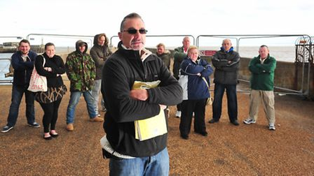 CAMPAIGN: Anglers and residents have joined forces to protest against the closure of Lowestoft South