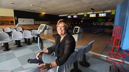 Marina Pearce of Regent Bowl.Brand new soft play centre being built where the old glow in the dark b