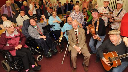 The Norwich Phab Club with many new members since their appeal, pictured with some of the entertaine