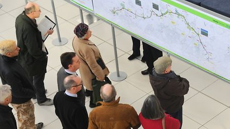 Members of the public study the latest plans for the NDR. Picture: Denise Bradley