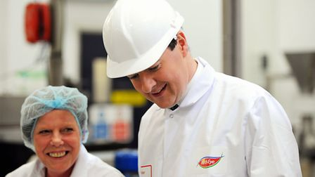 George Osborne visiting the Birds Eye factory in Lowestoft.Picture: James Bass