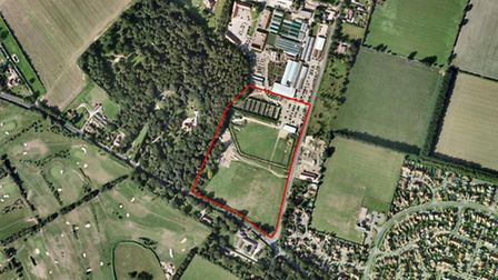 The site of the proposed development in Taverham.