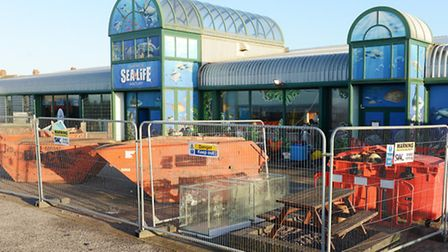The Sealife Centre in Hunstanton is still closed after the floods in early December. Picture: Matthe