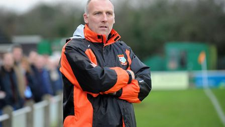 Diss Town boss Chris Tracey. Picture: Sonya Duncan.