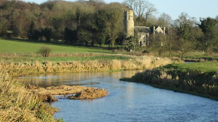 The Wensum Way, 29 December 2013. St Mary's church at Bylaugh. Pics by Chris Hill
