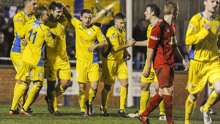 Lynn enjoyed a winning start to last year when the saw off Stamford at The Walks. Picture: Matthew U