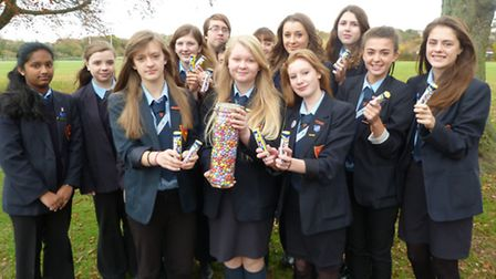 Neatherd High School''s International Prefects helped the charity appeal for the Philippines by coll