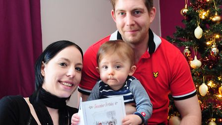 Carole Plumstead, with her husband Dagan and son Cameron, will be celebrating her 26th birthday on C