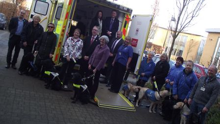Volunteers from Guide Dogs for the Blind look around the new ambulance design.Picture: SUBMITTED