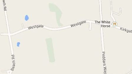 Westgate in Holme-next-the-Sea where electricity supply has been lost to a number of homes.