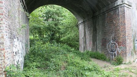 Cotswold Canals Capels Mill Viaduct before work started on canal