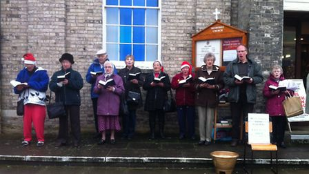 Singers from Thetford Methodist sing to raise money for our flood appeal