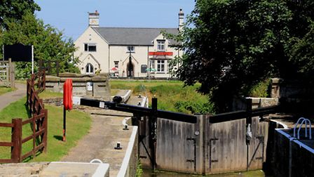 Witham Navigable Drains entrance lock, Antons Gowt