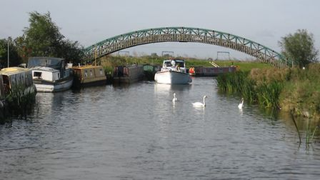 Great Ouse (old West River) near Popes Corner