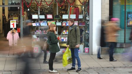 Shoppers catching the Boxing Day sales in Norwich. Photo: Bill Smith