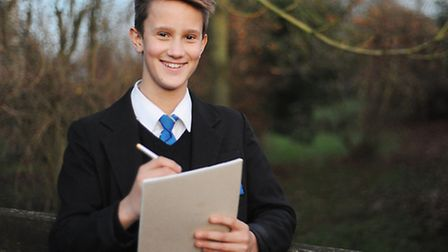 Dillon Jarvis, 13, has reached the final 12 in a national poetry competition. Picture: Ian Burt