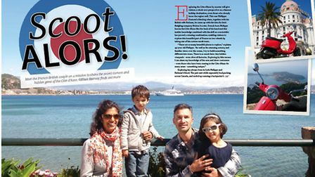 Meet a family living on the French Riviera in the December Living France
