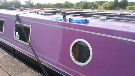 Cleaning-a-canal-boat