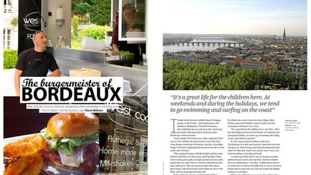 Bordeaux family life in the January issue of Living France