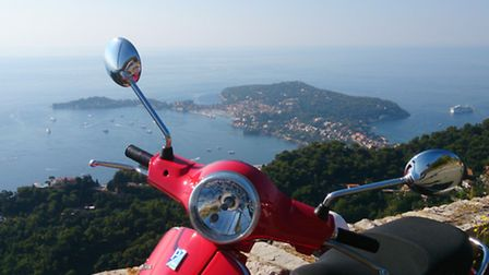 Phillippe and Farhana run a scooter hire business on the French Riviera
