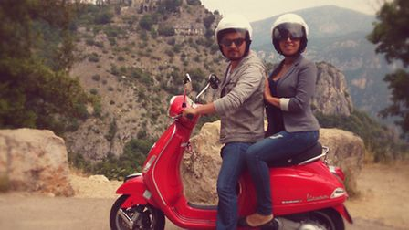 Exploring the Cote d'Azur by scooter