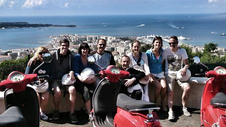 Riviera Scooter offers group tours