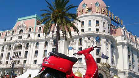Exploring Nice by scooter