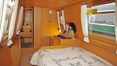 This is probably the biggest bedroom we've ever seen on a narrowboat