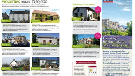 8 properties under 150,000 euros in the May 2015 issue of Living France