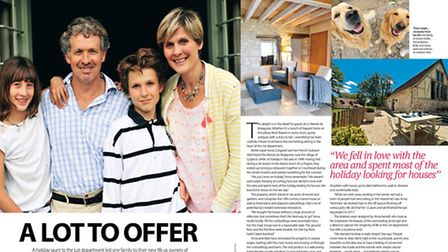 Expats running a luxury B&B in Lot in the May 2015 issue of Living France