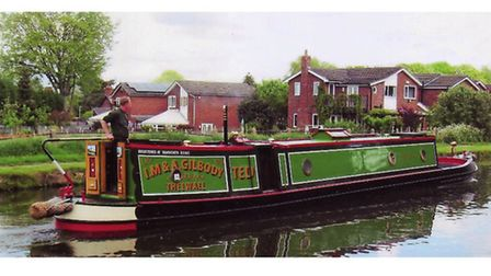 Ideal boat, Ted, on the Bridgewater at Outrington