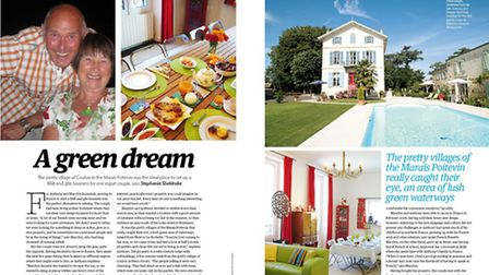 Meet a couple running a B&B and gite in the Marais Poitevin in the July 2015 issue of Living France