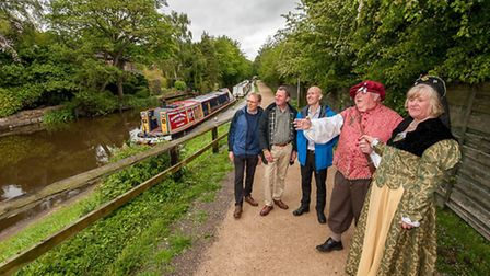 """Rufford Celebrations Mike Poloway, Canal and River Trust. """"Lord and Lady Heketh"""" from nearby Ruffor"""