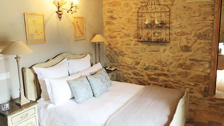 A bedroom at the maison d'hote