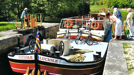 Luciole barge, run by Penny Liley
