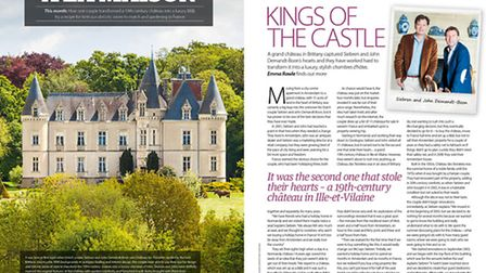 Meet expats who own a Brittany chateau in the August 2015 issue of Living France
