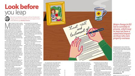 Learn more about the new European inheritance laws in the September 2015 edition of Living France