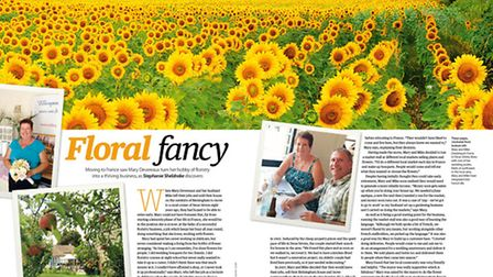 Meet an expat running a floristry business in the September 2015 edition of Living France
