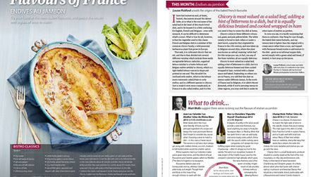 The food and drink section in the September 2015 edition of Living France