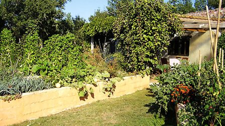 Self-sufficient garden at Green Chambres d'Hotes