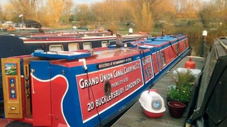 Moored up at Roydon Marina before the trip to the Kennet and Avon