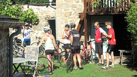 Preparing for a cycle ride in Correze