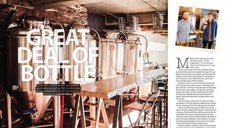 Expats running a microbrewery in the Alps in the November 2015 issue of Living France