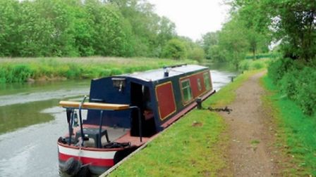 Having a tea break at Shenfield Mill on the Kennet and Avon