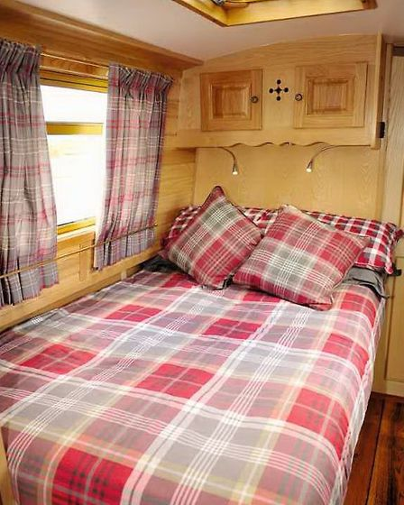 Cabin is nice and neat and the bed extends